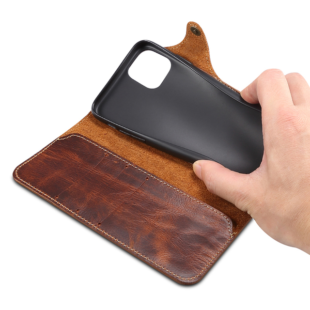 Durable Genuine Leather Wallet Case for iPhone 11/11 Pro/11 Pro Max 3