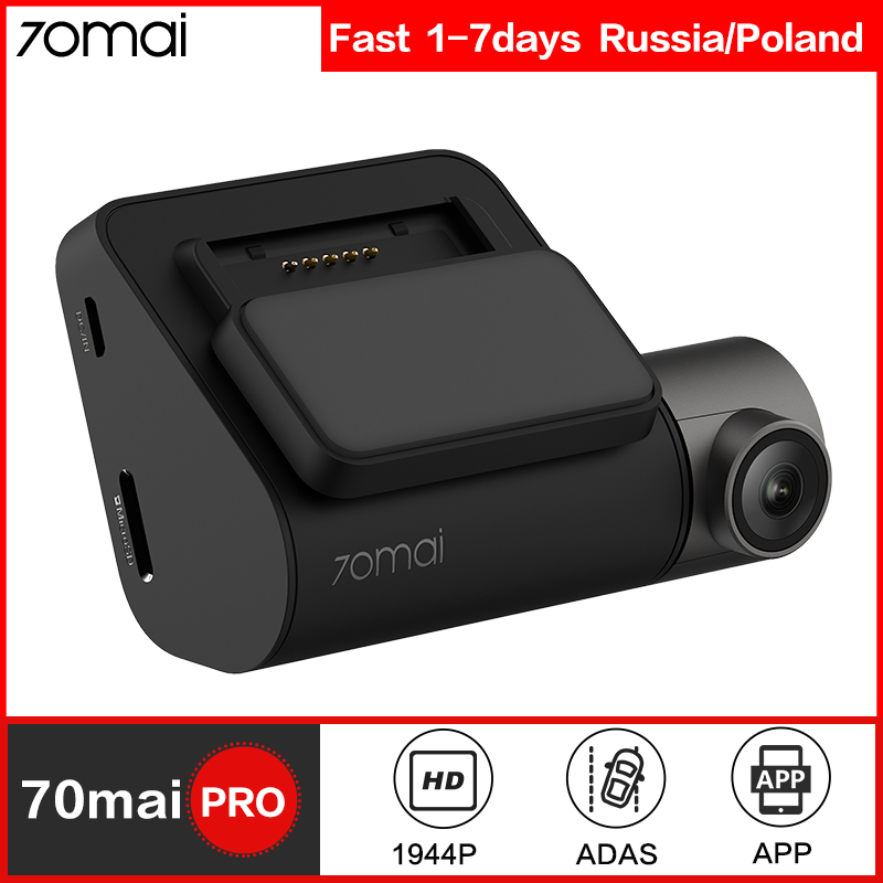 70mai Dash Cam Pro Smart Car DVR Camera Wifi 1944P GPS ADAS Voice Control Parking Monitor 140FOV Night Vision Dash Camera