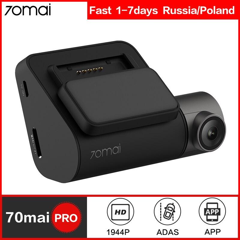 70mai Dash Cam Pro inteligente coche DVR Cámara Wifi 1944P GPS ADAS Control de voz Monitor de aparcamiento 140FOV noche visión Dash Camera
