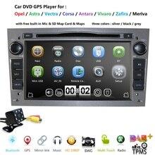 Monitor de coche con reproductor multimedia de DVD 2 din y cámara, dispositivo con GPS para Opel Vauxhall Astra H G J Vectra Antara Zafira Corsa, de 7 pulgadas