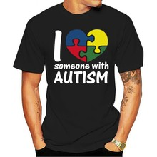 T-shirt en coton unisexe, décontracté, à la mode, avec des personnages de l'ue, pour autisme, 2021