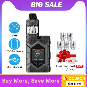 Vaptio WallCrawler KIT TANK 2.0/5ML Screen Vape Kit Support – 2 Gifts