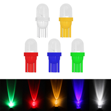 1шт 12В 5Вт W5W и лампа T10 холодный белый светодиод автомобилей Клина стороны лампа для чтения лампа авто светоизлучающих диода ширины сигнала поворота задний фонарь