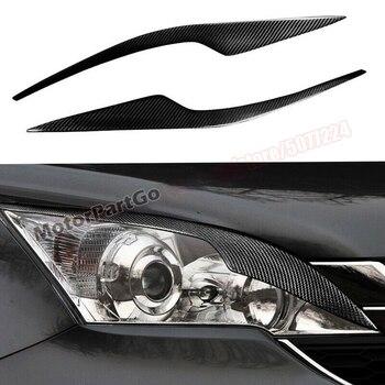 Real Crabon Fiber Head light Eyelid Eyebrow Cover Trim 1pair for Honda CR-V CRV 2007-2011 t179 1