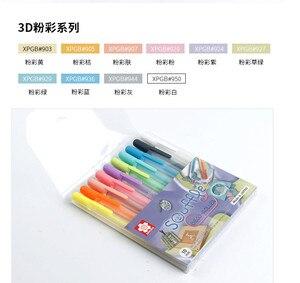 Image 2 - ساكورا جيللي رول حبر جل مجموعة أقلام 3 d ألوان الباستيل خط العرض 0.6 مللي متر 10 أقلام مجموعة