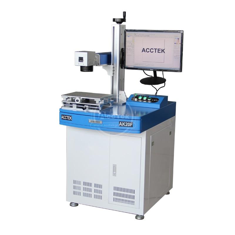 Wholesale Mini Laser Machine AK20F 20W Fiber Laser Marking Machine With 30w 50w 100w Optional