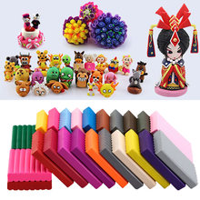 24 Colors Imagination Modeling Fluffy Slime Polymer Clay Set Toys Play Kids Non Stick With Tools Soft DIY Relieve Pressure(China)