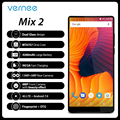 Vernee Mix 2 Мобильный телефон 6G Оперативная память 64G Встроенная память MTK6757 Octa core 6,0 дюйма 18:9 Дисплей 13.0MP Android 7,0 смартфон Двойная Задняя камера К...