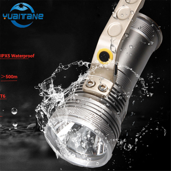 10000LM Handheld Camping lamp Searchlight Rechargeable LED Flashlight Waterproof fishing lantern hunting Torch 2*18650 Battery