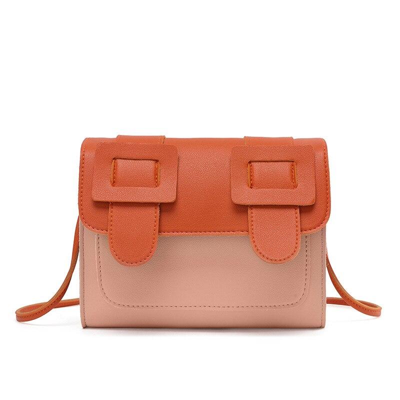 2020 Contrasting Color Retro Women's Shoulder Bag Fashion All-match Crossbody Bag Girl's Summer Spring Small Square Bag