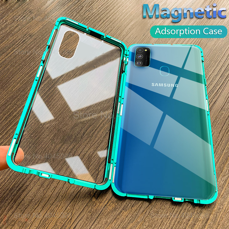Magnetic case For samsung m30s 2019 Double side tempered Glass cover on the For galaxy m30s m 30 30s m30 s m307 protective coque