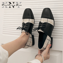 Women Flats Oxford Shoes Woman All Genuine Leather Sneakers Ladies Brogues Vintage Retro Casual Shoes for Women Footwear 2021