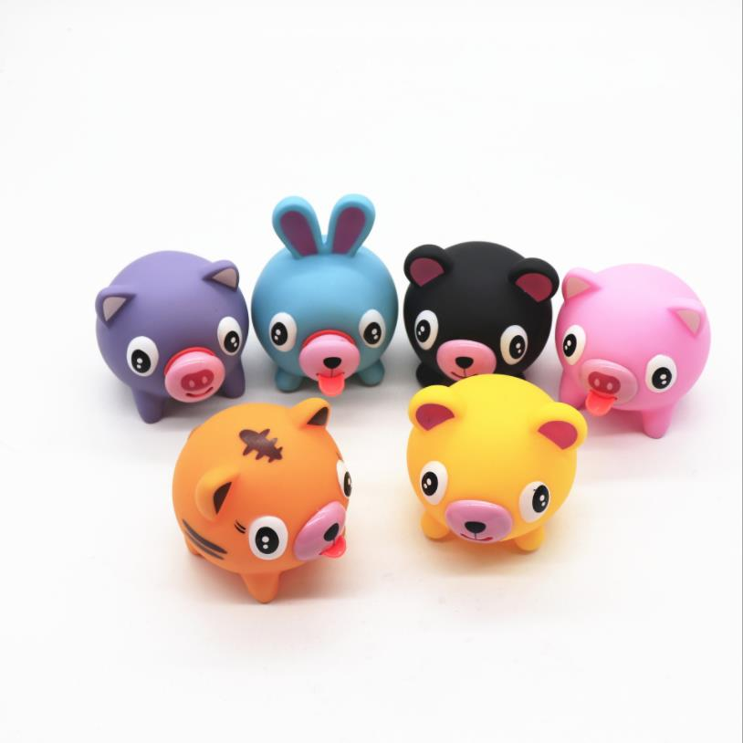 New Creative Toy Squeeze Animal Tongue Voice Novelty Vent Vocal Toys Decompression Dog Pig Squishy Anti-Stress Dolls Gifts