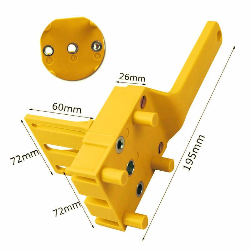 מהיר עץ Doweling לנענע ABS פלסטיק כף יד כיס חור לנענע מערכת 6/8/10mm מקדח חור אגרופן לניגרות דובל מפרקים