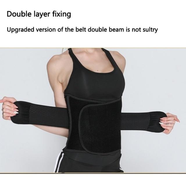 Unisex Fitness waist belt neoprene sweat belt exercise slimming body shaper Adjustable gym training waist trimmer support 2