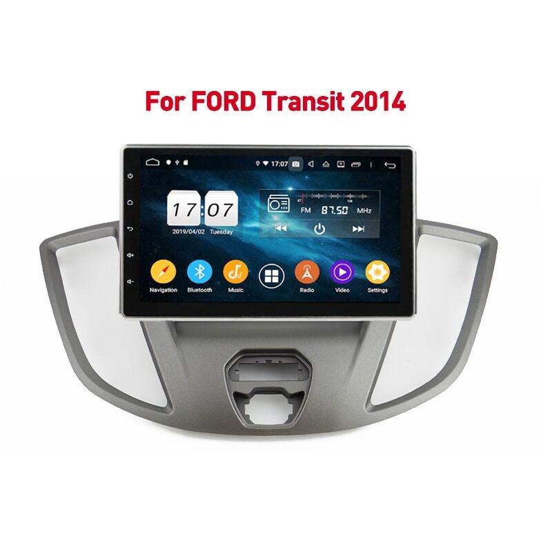 Автомагнитола 2DIN, 64 ГБ, Android 10, мультимедийный плеер с GPS для Ford Transit 2014, 10,1 дюйма, Авторадио, Bluetooth-навигация, стерео головное устройство
