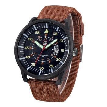 2021 New Stylish Cool Men's Watch Military Mens Quartz Army Watch Black Dial Date Luxury Sport Wrist Watch Relogio masculino