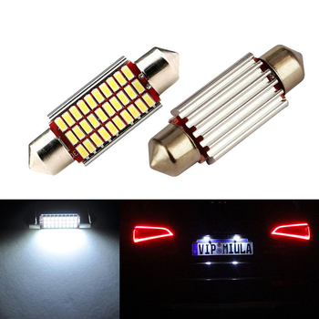 2x LED CANbus C5W Bulbs 3014SMD Interior Lights License Plate Light For Mercedes Benz W208 W209 W203 W169 W210 W211 W212 AMG CLK image
