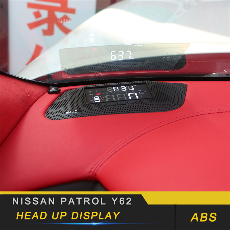 For Nissan Patrol Y62 Armada 2010-2019 HUD Head-Up Display Car-styling Overspeed Warning Windshield Projector Alarm System