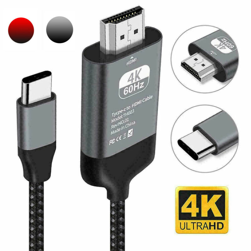 Type C To HDMI Cable For Samsung Note 10 9 8 S10 S9 S8 Plus 4K MHL Type C To HDMI AV TV Cable Adapter
