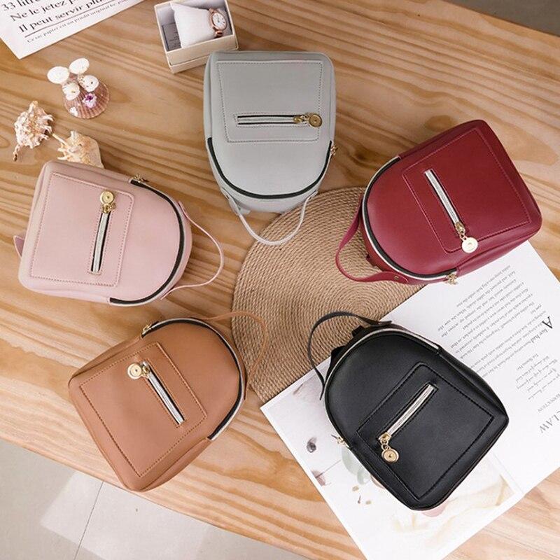 Mini Backpack Women PU Leather Shoulder Bag For Teenage Girls Kids Fashion Small Bagpack Female Ladies School Backpack