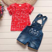 BibiCola 2019 letnie nowe zestawy ubrań dla niemowląt niemowlęta sportowy strój dla chłopców zestaw maluch T-shirt + spodenki spodnie 2 sztuk zestawy ubrań dla dzieci tanie tanio COTTON Moda O-neck Swetry Krótki REGULAR Pasuje prawda na wymiar weź swój normalny rozmiar Czesankowej Płaszcz Cartoon