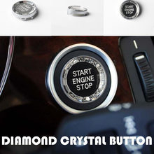 Diamond Crystal Car ENGINE START STOP Switch Button Replace Cover For BMW 3 5 Series E90 E91 E60 X1 E84 X3 E83 X5 E70 X6 E71 E72(China)