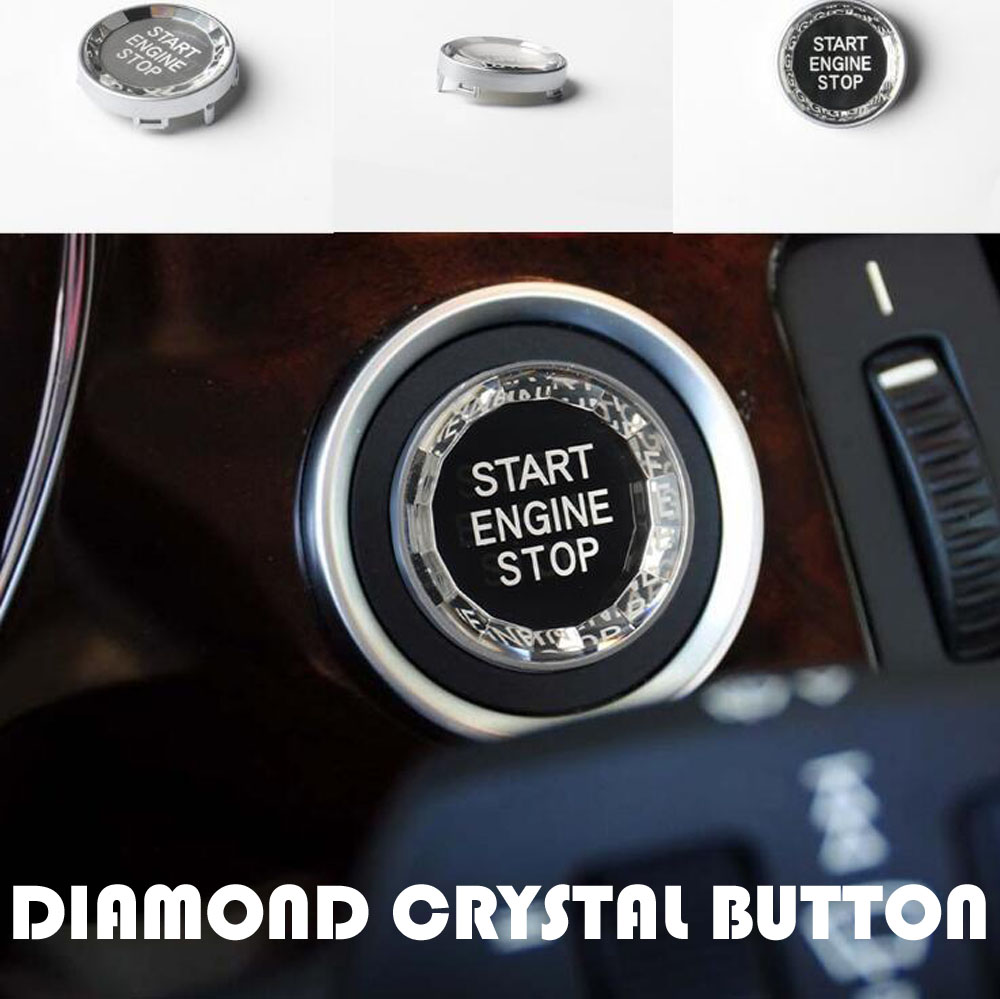 Diamond Crystal Car ENGINE START STOP Switch Button Replace Cover For <font><b>BMW</b></font> 3 5 Series E90 E91 <font><b>E60</b></font> X1 E84 X3 E83 X5 E70 X6 E71 E72 image