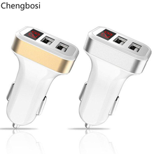 Dual USB Car Charger Adapter 3.1A Digital LED Voltage/Current Display Auto Vehicle Charger for Smart Phone/Tablet Universal стоимость