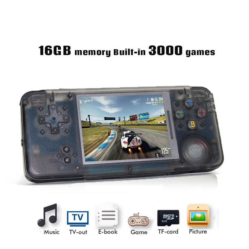 RS-97 Retro Handheld Game Console 64Bit 16GB 3.0Inch Built-in 3000 Classic Games Support For NEO GEO/CP1/CP2 Emulator Console