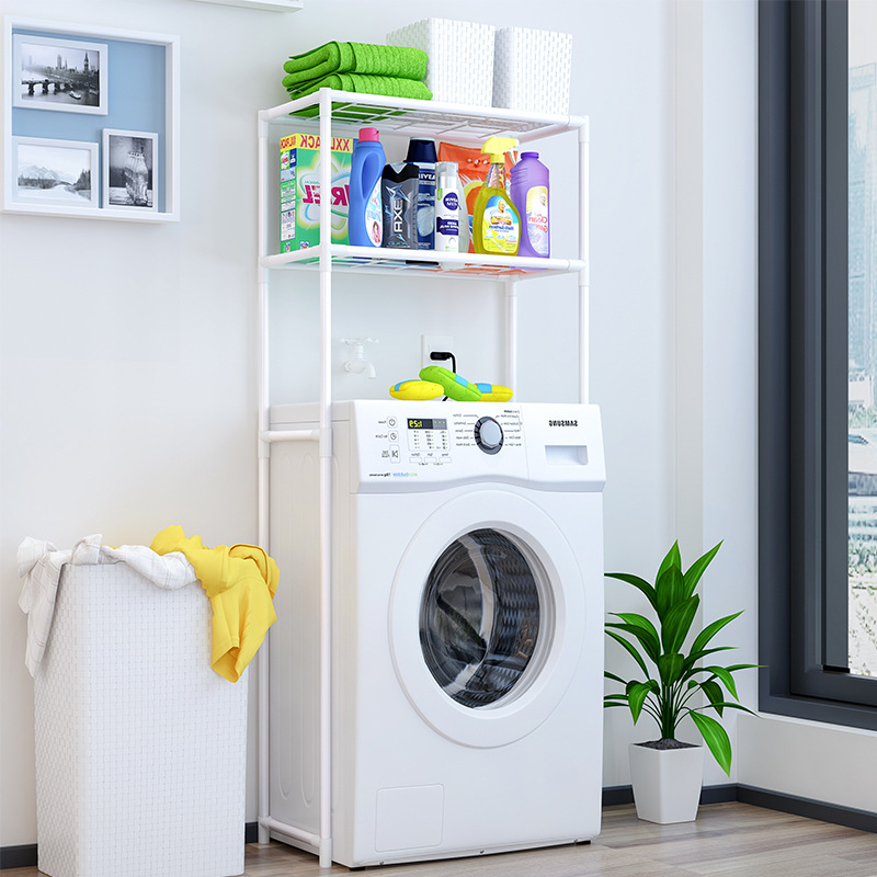 Suo Ernuo Bathroom Washing Machine Shelf Toilet ma tong jia Toilet Organizing Rack Floor Storage Shelves