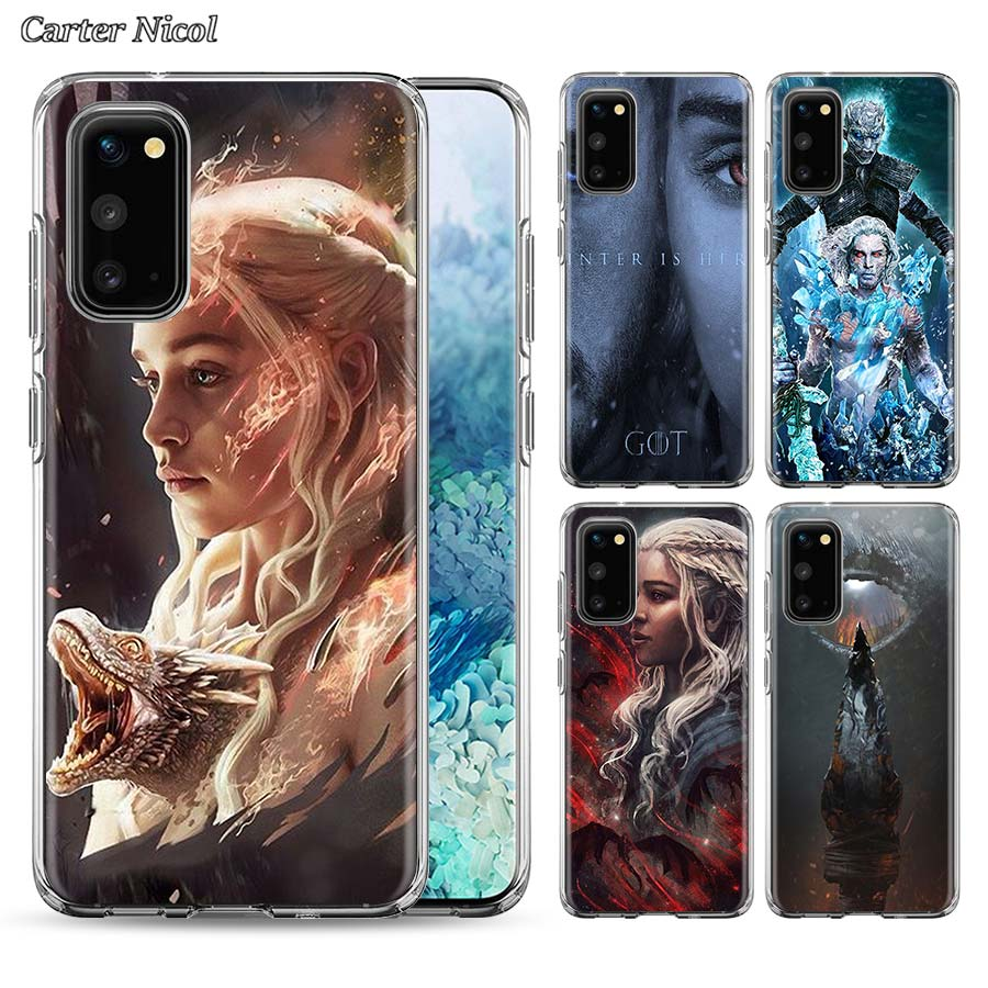 game of throne season 8 Silicone Case for Samsung Galaxy S10 S20 Ultra 5G S10e S10 Lite S8 S9 Plus S20+ Clear TPU Soft Cover image