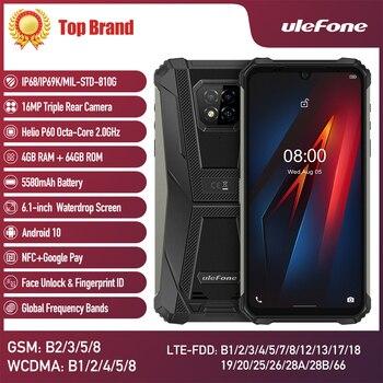 Перейти на Алиэкспресс и купить Ulefone Armor 8 прочный мобильный телефон на базе Android 10, 4 Гб + 64 ГБ, мобильный телефон с восьмиядерным процессором, 2,4 ГГц/5G Wi-Fi, 6,1 дюйма, IP68 водонепро...