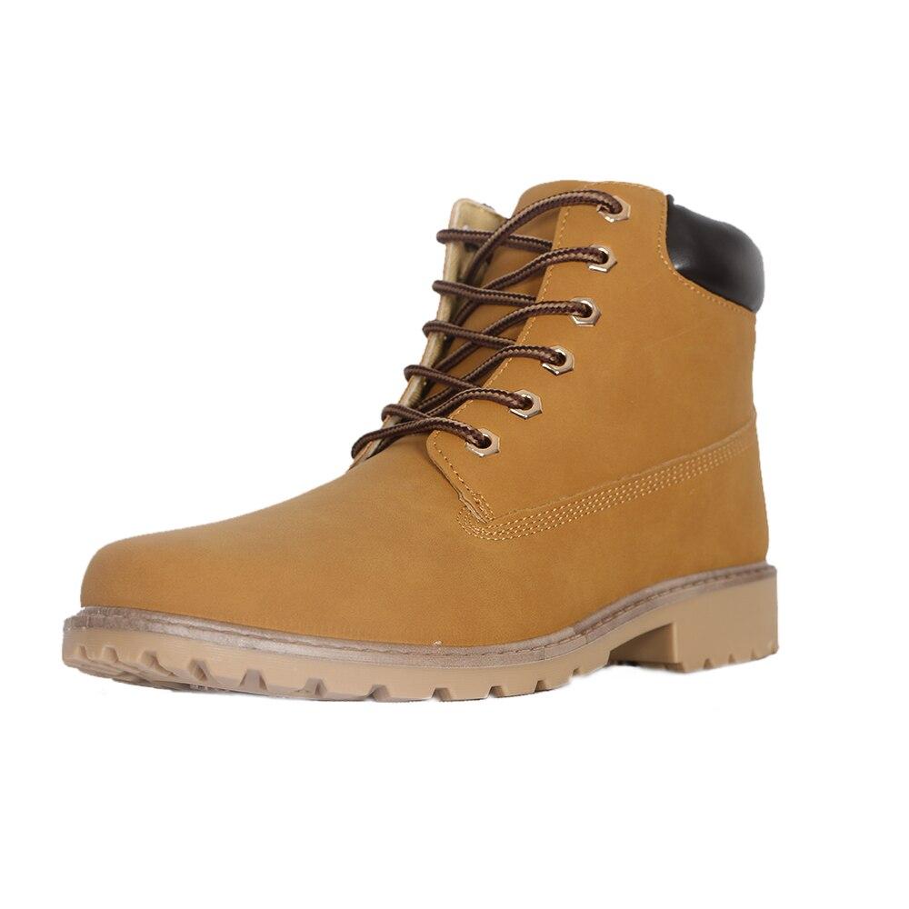 2019 hommes femmes bottes en cuir hiver chaussures de sécurité hommes bois terre chaussures Botas classique à lacets bottines pour Unis travail chaussure de neige