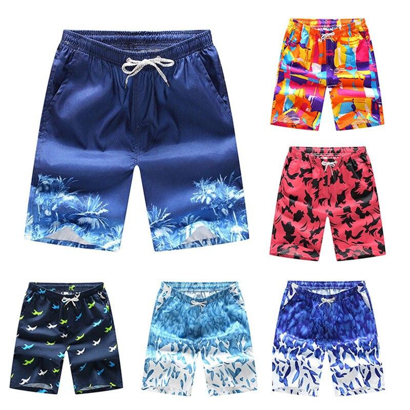 Mens Beach   Shorts   S-4XL 2020 Swim   Shorts   Elastic Waist Breathable Print Pattern   Board     Shorts   Male Plus Size Surfing Beach Wear