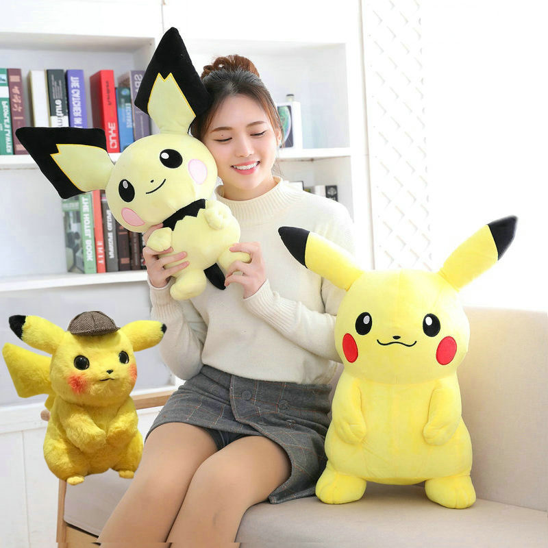30~60cm Pikachu Pichu Stuffed Anime Toys Japan Game Dolls Toys For Boy Big Size Pikachu Plush Toys For Children