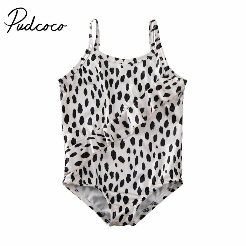 Baby Girl Bodysuit Bikini Toddler Infant Baby Girls Leopard Print Swimsuit Swimwear Swimming Bikini Kids Bathing Suit