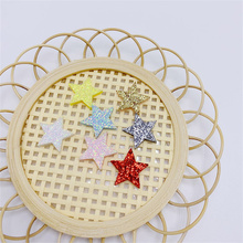 100Pcs/Lot 1.5-2CM Shiny Star Padded Appliques For DIY Handbag Clothes Hat Children Hair Clip Accessories And Garment Patches