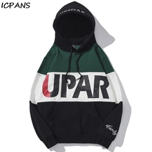 ICPANS Hooded Sweatshirts Male Women Hip Hop Streetwear Letter Characters Printed Fleece Hoodies 2019 Winter Men Casual Pullover