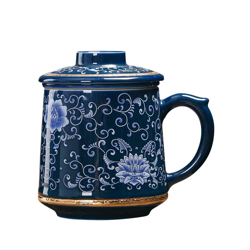 Jingdezhen 999 argent thé tasse émail en céramique café tasses Vintage tasse bureau maître eau tasses artisanat Collection comme cadeau de noël
