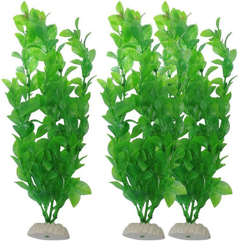Artificial Water Plant Fish Tank Aquarium Green Landscape Plastic Artificial Underwater Aquatic Grass Plant Home Decor