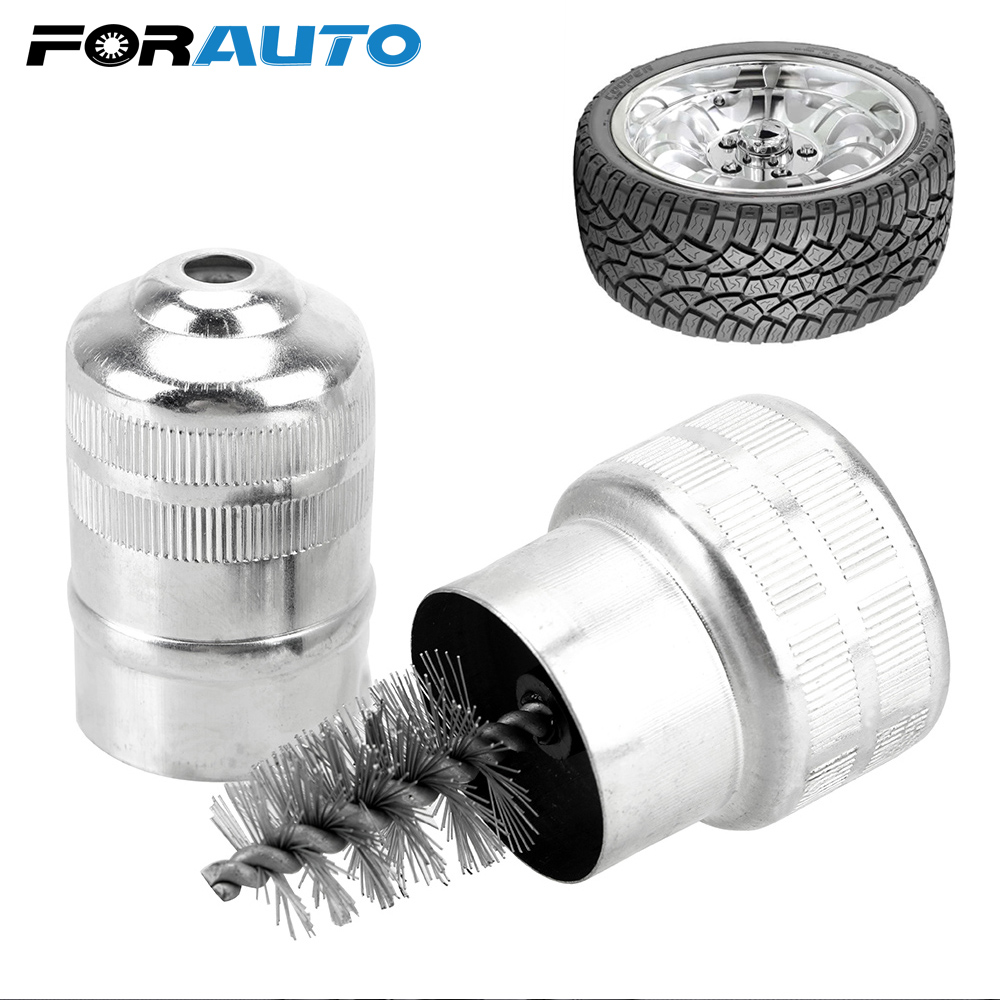 Steel Wire Brush Car Battery Post Terminal Cleaner Car Wheel Rims Tire Washing Brush Dirt Corrosion Brush Car Care Clean Tool