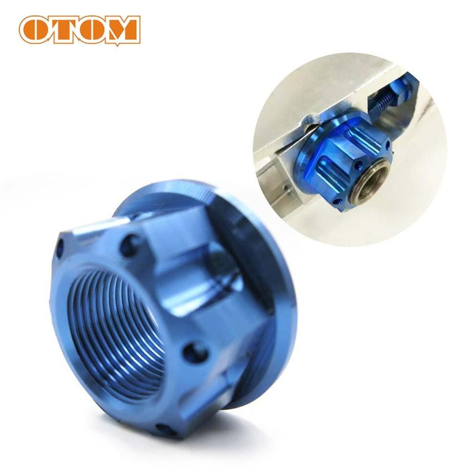 OTOM Frond And Rear Wheel Axle Nut Hub Large Axle Nut Fixed Gear Motocross Cycling For HONDA CRF250 450 Stainless Steel