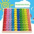 Детские деревянные игрушки для обучения, таблица умножения 99, математическая игрушка 10*10, фигурки из блоков, развивающие игрушки для детей Б...