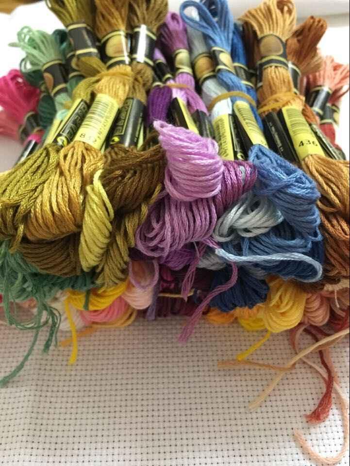 TOP CXC 10 sztuk nici do haftu krzyżykowego/ścieg haft krzyżykowy/nici niestandardowe kolory 11