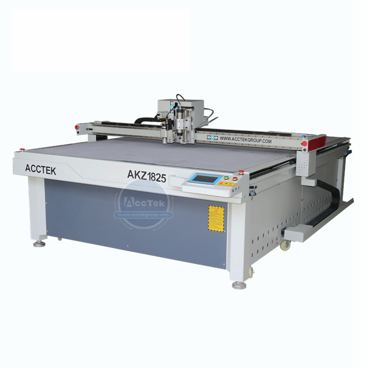 AKZ1825 Cnc Vibrating Knife Cutting Machine For Rubber Leather Foam Board Price