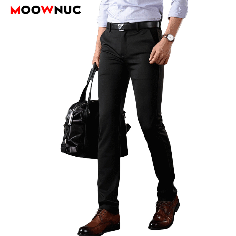 Men Pants Casual Trousers Coverall Elastic Fit Hombre Large Size Suit Pants Streetwear Solid Masculino Business Casual 28-52 50