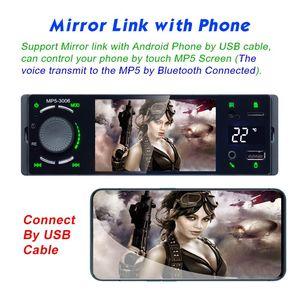 """Image 2 - Lustro Link 1 Din Autoradio samochodowy Radio 4.1 """"ekran dotykowy Auto Audio Bluetooth samochodowe Stereo MP5 odtwarzacz multimedialny kamera cofania"""