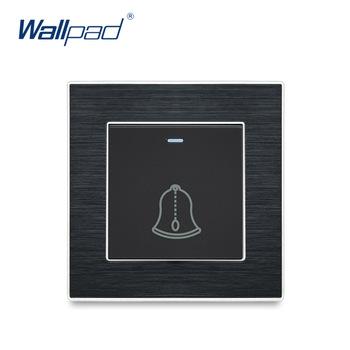 Przełączniki dzwonkowe kontakt momentary Wallpad luksusowy przełącznik ścienny Satin metalowy Panel przełączniki przerywacz tanie i dobre opinie Wall Switch Ze stopu aluminium ze stopu aluminium 12 Years New Arrival Kołysko- Wall Light Switch Black Aluminum Wenzhou China (Mainland)
