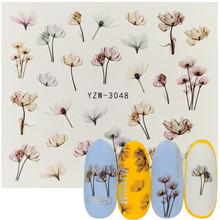 2020 DIY kwiat do zdobienia paznokci różany lakier do paznokci wysokiej jakości żelowy lakier do paznokci plastikowa butelka jasny kolor lakier do paznokci lakier do paznokci tanie tanio 6 ml Żel uv Water Film Paper 1 PCS 65*52mm Sticker Decal Flower Series Water Tranfer Nail Sticker